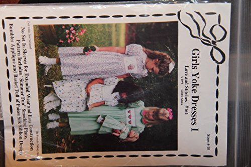 Girls Yoke Dresses I - Love and Stitches #161 (Doll Dress Not Included) - Pattern includes