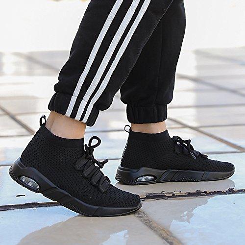 Turnschuhe Walking MUOU Sneaker Sport Mode Schwarz Männer Schuhe Atmungsaktive Herren Laufschuhe Freizeitschuhe wZqafw