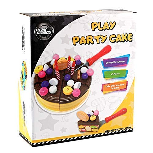 Think Gizmos Play Party Cake TG713 - Party Cake Play Set for Kids Aged 3 4 5 6 by Think Gizmos (Image #4)