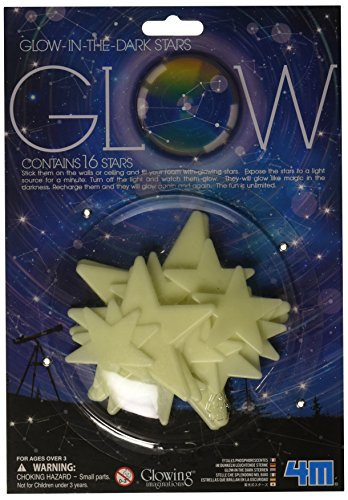 4M Glow Stars (16-Piece) 3 Piece Clock Kit