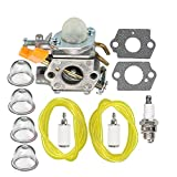 weed eater spark plug - HIPA Carburetor + Fuel Line Fuel Filter for Ryobi 30cc String Trimmer RY30000 RY30002 RY30004 RY30021A RY30041A RY30061A RY52001 RY52001A RY52003 RY52003A PC30 TP30 Gas Pruner
