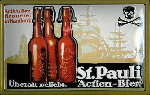 St. Pauli actien-Cerveza Cartel de chapa Cartel Chapa Metal ...