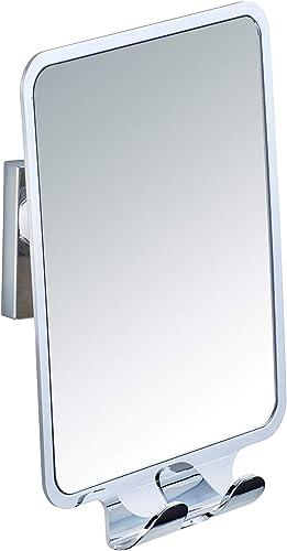 WENKO Vacuum-Loc Quadro Anti-Fog Shower Mirror with 2 Hooks