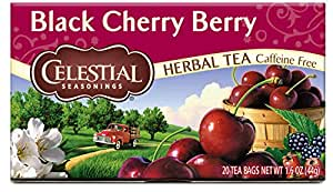 Celestial Seasonings Herbal Tea, Black Cherry Berry, 20 Count (Pack of 6)