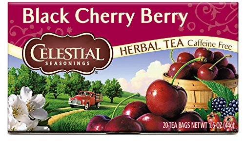 Celestial Seasonings Herbal Tea, Black Cherry Berry, 20 Count (Pack of 6)