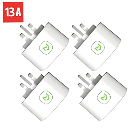 Wi-Fi Smart Plug, Meross Smart Plugs 13A Fast Charging Compatible with  Amazon Alexa Google Home IFTTT Remote Control(4-Pack)