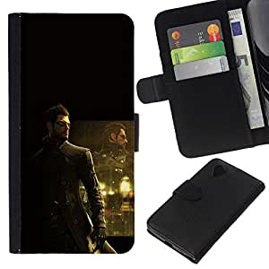 NEECELL GIFT forCITY // Billetera de cuero Caso Cubierta de protección Carcasa / Leather Wallet Case for LG Nexus 5 D820 D821 // Deusex Juego
