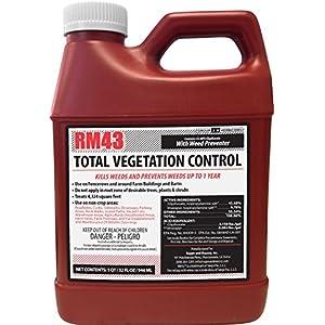 RM43 76502 32oz Total Veg Control Glyph Imazapyr Weed Preventer, 0.25-Gallon