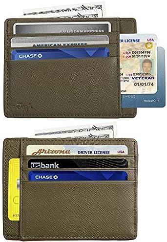 New Men Ladies Slim Genuine Leather Credit ID Card Holder Pocket Case Wallet
