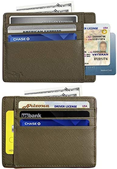 New Mens Womens Leather ID Wallet Holder Black Credit Card Slim Thin