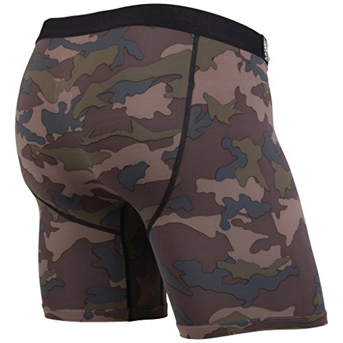 MyPakage Men's Premium Icefill Boxer Brief Underwear Camo Brown