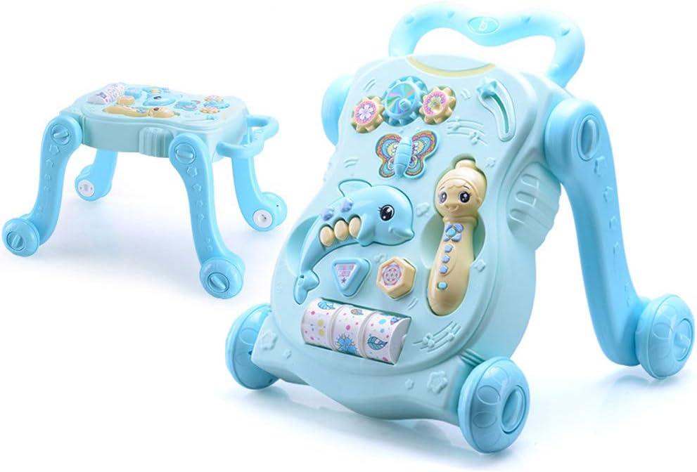 YZT QUEEN Correpasillos bebé, el Andador Multifuncional, el Carrito de Rompecabezas de educación temprana para bebés, se Pueden Usar como Mesa de Juego