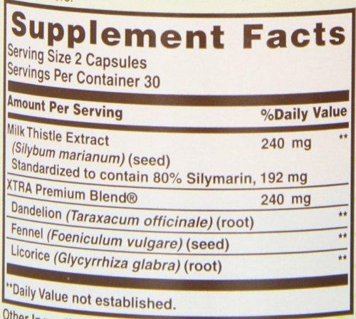 Sundown Naturals Milk Thistle 240 mg, 60 Capsules by Sundown Naturals (Image #2)
