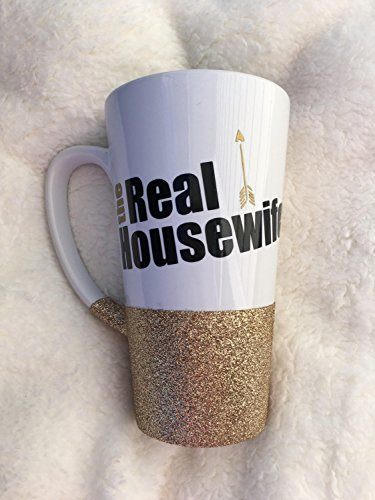 The Real Housewife Coffee Mug, Funny Coffee Mug, Glittered Coffee Mug, Custom Glitter Mug, Wife Mug, Mothers day gift