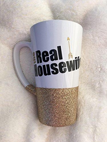 The Real Housewife Coffee Mug, Funny Coffee Mug, Glittered Coffee Mug, Custom Glitter Mug, Wife Mug, Mothers day gift