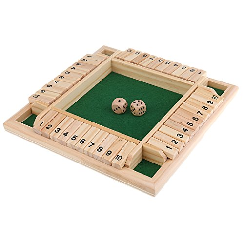 Homyl Traditional Shut the Box Wooden Board Number Drinking Dice Toy Entertainment by Homyl