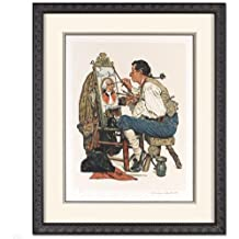 """NORMAN ROCKWELL SIGNED AUTO """"Ye Old Pipe Shoppe"""" LIMITED EDITION LITHOGRAPH FRAMED"""