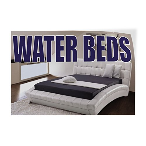 (Decal Sticker Multiple Sizes Water Beds Business Water Beds Outdoor Store Sign White - 69inx46in, Set of 10)