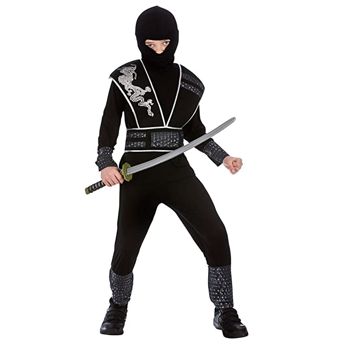 Childrens Boys Elite Shadow Ninja Halloween Fancy Dress Up Party Costume Outfit