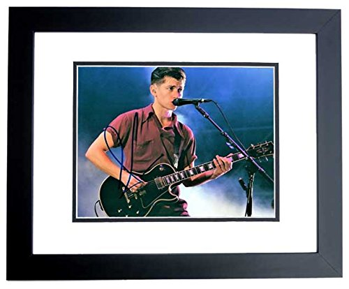 Alex Turner Signed - Autographed Arctic Monkeys 8x10 inch Photo BLACK CUSTOM FRAME