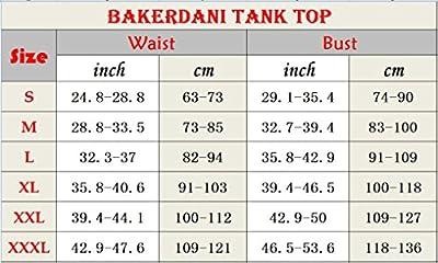 Bakerdani Womens Hot Sweat Tank Top Body Shaper Neoprene Shapewear Comfortable Gym Vest Black