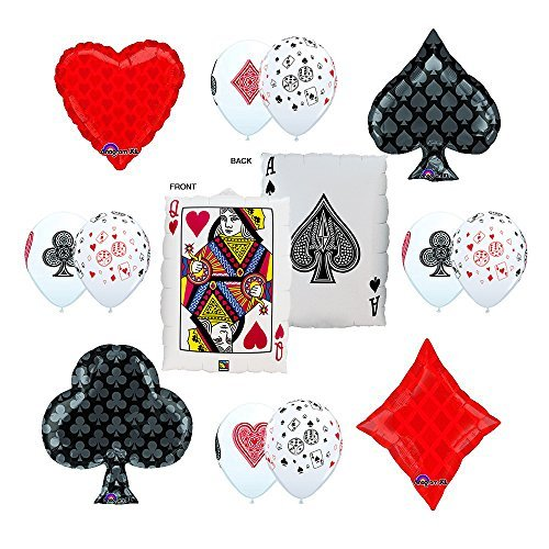 CASINO NIGHT 13pc Party Balloon decorations