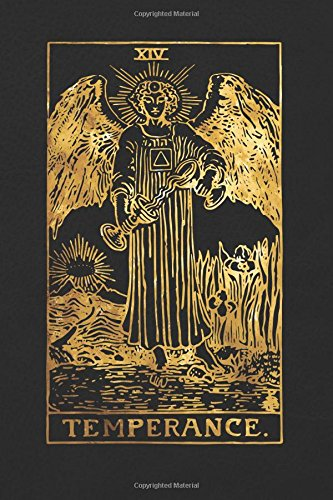 Read Online Temperance: 120 blank pages, Temperance Tarot Card Notebook - Black and Gold - Sketchbook, Journal, Diary (Tarot Card Notebooks) pdf