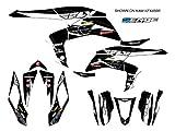 Senge Graphics 2008-2016 Kawasaki KFX 450R, 13 Fly Racing Black Graphics Kit