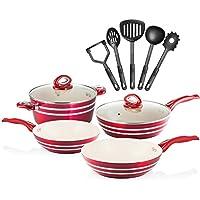 Chef's Star 11-Piece Professional Grade Aluminum Non-Stick Pots & Pans Set