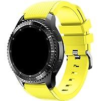 Pulseira Silicone 22mm compatível com Galaxy Watch 3 45mm - Galaxy Watch 46mm - Gear S3 Frontier - Amazfit GTR 47mm…