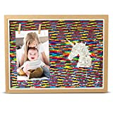 Pillow & Toast Unicorn-Gift Photo Frame, Unicorn Sequin Nursery-Decor, Hang Pictures, Footprints, Handprints