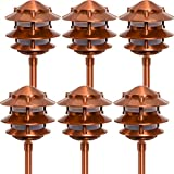 Paradise GL22764 Low Voltage Cast Aluminum 11W Path Light (Copper, 6 Pack)