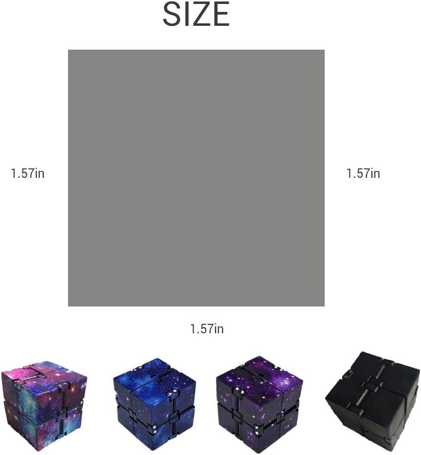 BASOYO Galaxy Mini ABS Infinity Cube per alleviare Lo Stress Agitarsi Anti ansia Stress per Bambini Giocattolo per Adulti edc Giocattolo per alleviare Lo Stress e lansia e Il Tempo di ammazzare