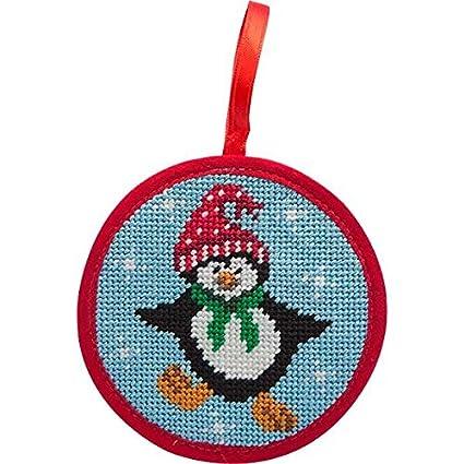 Alice Peterson Stitch-Ups Dancing Penguin Needlepoint Ornament Kit - Amazon.com: Alice Peterson Stitch-Ups Dancing Penguin Needlepoint