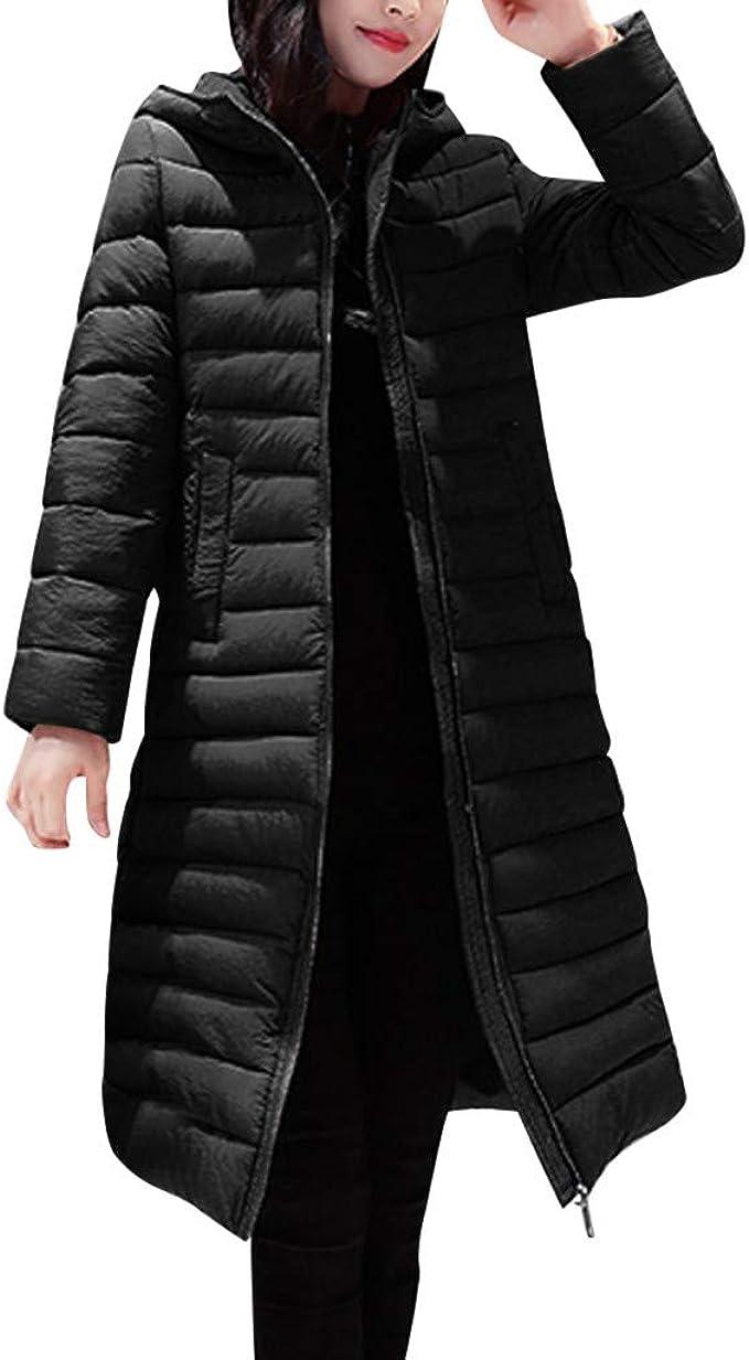 Dainzuy Down Coats for Women Hood Thickened Hooded Winter Long Down Jacket Outwear Parka Puffer Overcoat