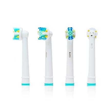 Oral-Q EB25A - 16 cabezales para cepillo de dientes eléctrico de repuesto compatible con