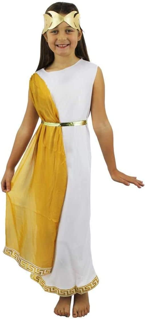 ILOVEFANCYDRESS Disfraz DE Nina Romana Vestido Blanco con Cinta ...