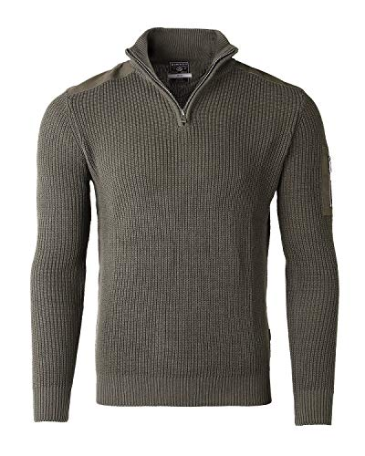 ZIMEGO Mens Long Sleeve Pullover Quarter Zip Mock Neck Polo Sweater with Pocket
