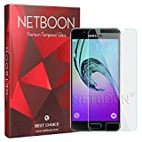 NETBOON Premium Samsung Galaxy A3 (2015) Tempered Glass Screen Protector Full Transparent Anti-Glare Screen Gorilla Glass Guard for Samsung A3 2015