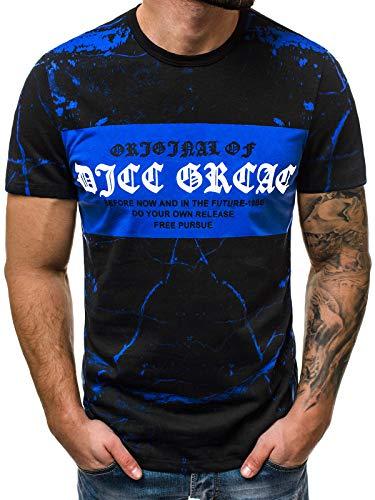 Risaltare Motivo Manica Con Corta 181167 777 Maglietta Ozonee Che Blu Figura Girocollo Ozonee Nero Fa Bry La 726t Uomo wxqIzXg