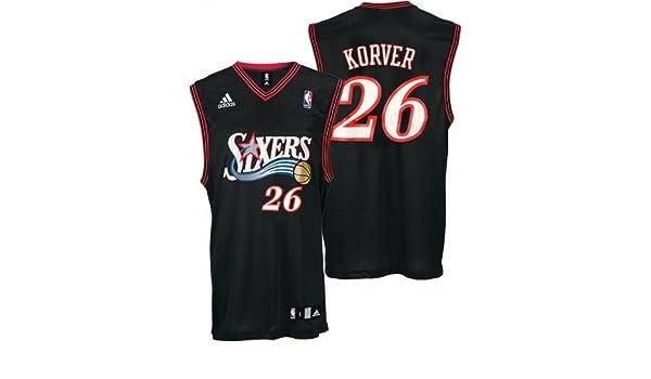 finest selection 3bfb1 67a66 Adidas Kyle Korver Jersey Black Replica #26 Philadelphia ...