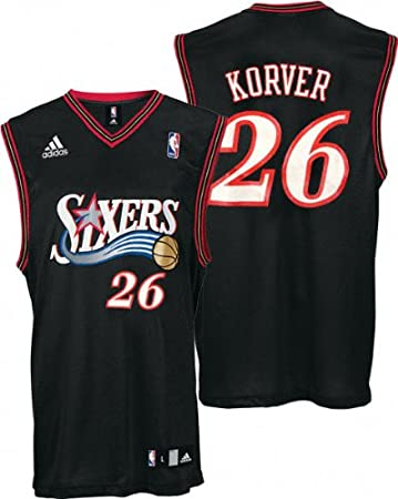 754814216 ... new arrivals buy be451 30965 adidas kyle korver jersey black replica 26  philadelphia 76ers jersey medium