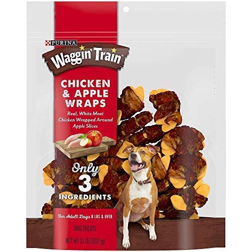 Chicken & Apple Wraps Dog Treats, Only 3 Ingredients, Net Wt - Apple Wrap