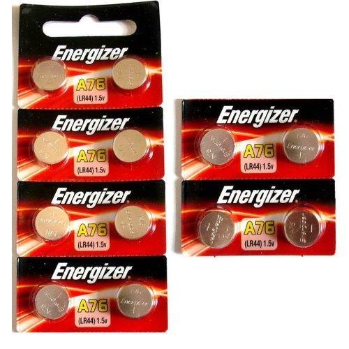 [ Strip of 12 ] Energizer A76/LR44 (A76BP), SR44, L1154, 1.5v Alkaline Batteries