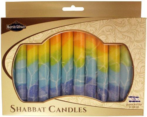 Majestic Giftware SC-SHSF-O Safed Shabbat Candle, 5-Inch, Fantasy Orange, 12-Pack (Shabbat Candles 12 Safed)