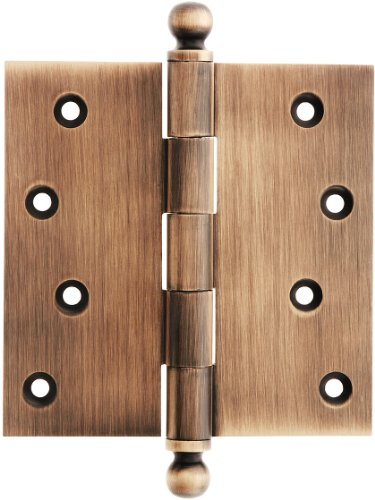 House of Antique Hardware W-04HH-320-AC Solid Brass Door Hinge with Ball Finials, 4
