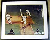 Autographed Bill Buckner Photo - Mookie Wilson 1986 World Series Game 6 Mets 16x20 matted framed 20x24