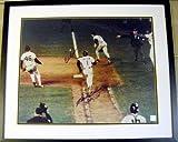 Autographed Bill Buckner Photo - Mookie Wilson 1986 World Series Game 6 Mets 16x20 matted framed 20x24
