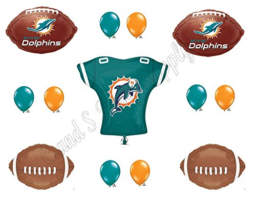 MIAMI DOLPHINS JERSEY Birthday Party Balloons Decoration -