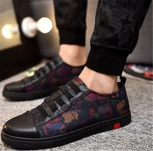 Scarpe In Tela Satuki Per Uomo, Scarpe Casual Basse Classiche Allacciate Leggere Sneakers Da Ginnastica Leggere E Sportive Nere-rosse